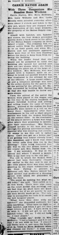 Wichita Daily Eagle 1904-10-01 p5 (Carrie Nation Again) part 1.png