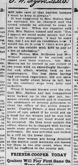 Wichita Daily Eagle 1904-10-01 p5 (Carrie Nation Again) part 2.png
