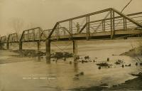 29 Bridge with person in coveralls postcard photo 1908 Maurine Holt.jpg