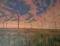 Windmill Farm by Nancy Luttrell (Adult Division - 2nd Place)