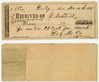 1889 receipt for coal (front and back)